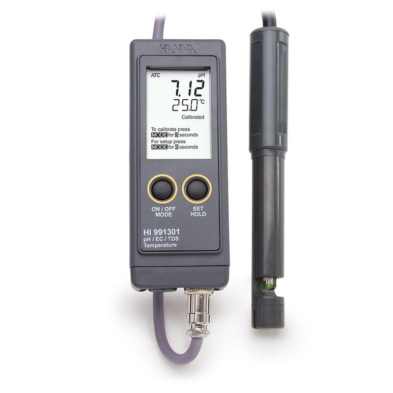 Portable Waterproof pH/EC/TDS Meter, HANNA HI991300N